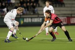 29-03-2019: Hockey: Mannen Oranje Rood v SCHC: EindhovenL-R Leon van Barneveld van SCHC en Bob de Voogd van Oranje-Rood