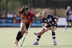 22-09-2019: Hockey: Vrouwen Oranje Rood v HDM: EindhovenHockey Livera Hoofdklasse 2019L-R Maria Jimena Cedres Lobbosco van Oranje-Rood en van Es van HDM