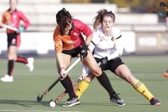 17-11-2019: Hockey: Dames Oranje Rood v Victoria: EindhovenL-R Marlena Rybacha of Oranje-Rood and Sabine van den Eijnden of Victoria