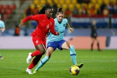 07-03-2020: Voetbal: Vrouwen Nederland v Canada: CalaisL+R Dean Rose of Canada and Merel van Dongen of The Netherlands