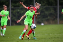 BARSINGHAUSEN, GERMANY - AUGUST 7:  during the Friendly game match between VFL Wolfsburg and FC Twente at August-Wenzel-Stadion on August 7, 2021 in Barsinghausen, Germany (Photo by Perry van de Leuvert/Orange Pictures)