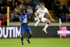 BRUSSEL, BELGIUM - SEPTEMBER 23:  during the Jupiler Pro League match between RSC Anderlecht and KAA Gent at Lotto Park on September 23, 2021 in Brussel, Belgium (Photo by Perry vd Leuvert/Orange Pictures)