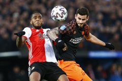 15-12-2019: Voetbal: Feyenoord v PSV: RotterdamEredivisie 2019-2020L-R Leroy Fer of Feyenoord and Gaston Pereiro of PSV Eindhoven